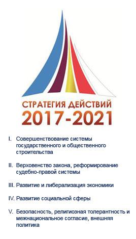 Стратегия действий по дальнейшему развитию Республики Узбекистан  на 2017-2021 года